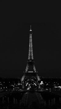 Lenovo K4 Note Wallpapers - Black Eiffel Tower Android wallpapers
