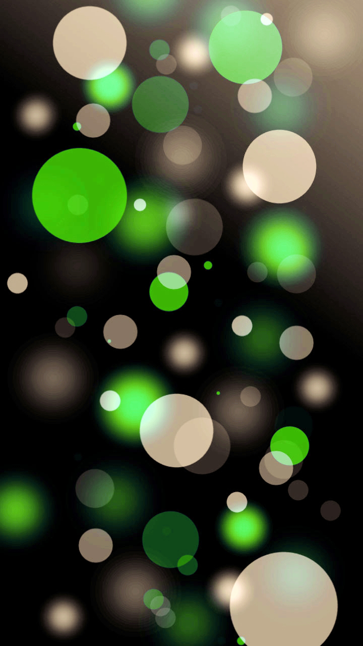 Download The Android Majestic Green Bubbles Wallpaper