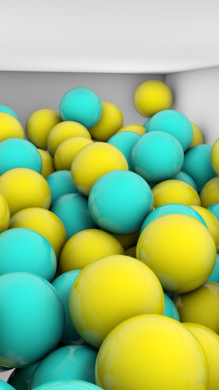 Samsung Galaxy J5 Wallpapers Blue Yellow Balls Android Wallpapers