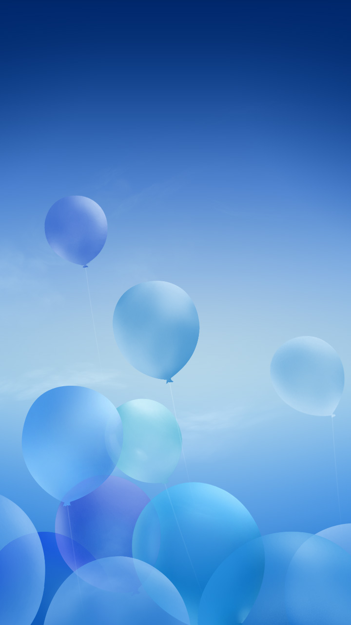 Download The Android Blue Balloons Wallpaper